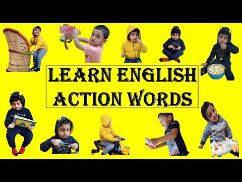 Learn day to day English Action words with physical activity | How to teach action verbs to your kid