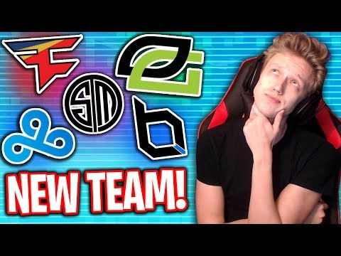 THE NEW FORTNITE TEAM I'M JOINING IS...? (FaZe, OpTic, TSM, Obey & MORE)