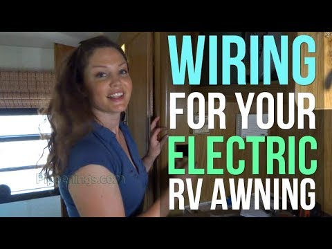 RV Renovations: How to Wire an Electric Awning Install - YouTube a&e awning parts YouTube