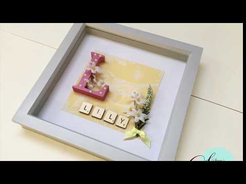 How To Make: Box Frame Baby Gift | DIY Gift Idea