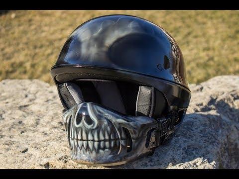 Skull Face Motorcycle Helmet Custom Bell Rogue Half Helmet