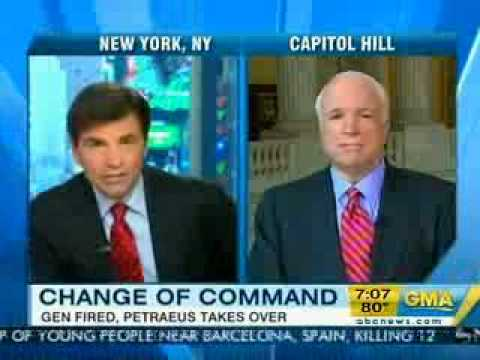 SENATOR JOHN McCAIN ON GOOD MORNING AMERICA 6-24-10