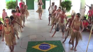 Apresentação dos alunos do 5º ano da escola Indígena Direito de Aprender do Povo Anacé