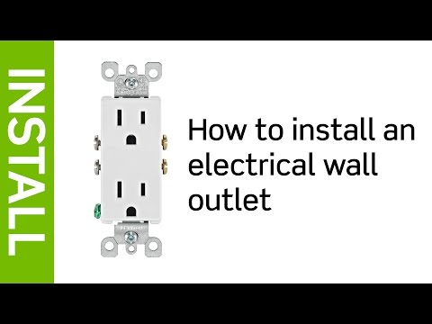How to Install a Leviton Electrical Wall Outlet  YouTube