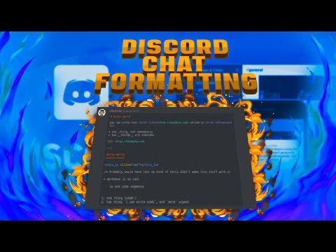 Discord Chat Formatting (Bold, Italics, & More)