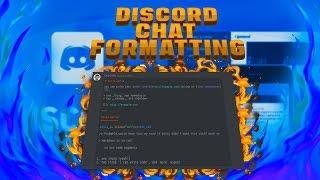 Discord Chat Formatting (Bold, Italics, & More)