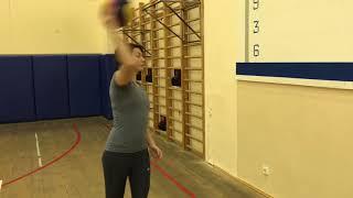 Водное поло (тренировка на суше,работа с мячом)water polo