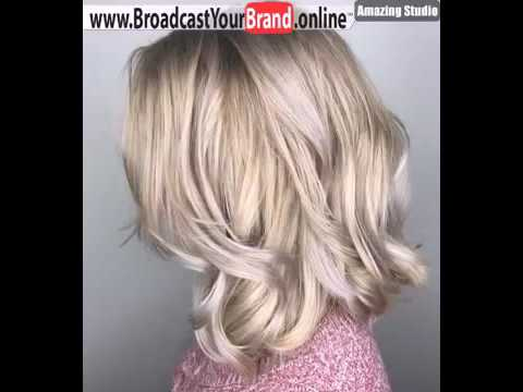 Golden Blonde Hair With Silver Highlights Style Youtube