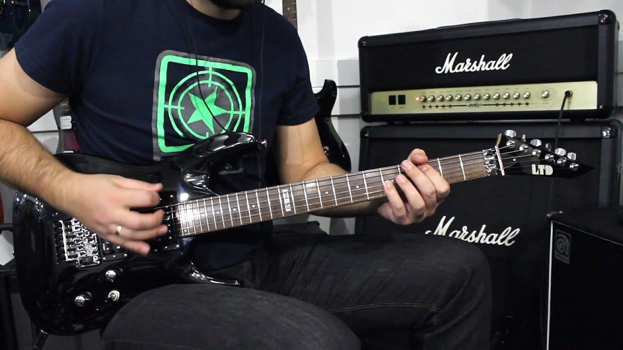 esp ltd mh 50 blk demo guitar youtube. Black Bedroom Furniture Sets. Home Design Ideas