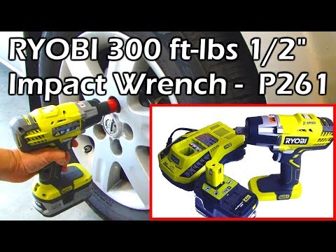 "RYOBI 300 ft lbs 1/2"" Impact Wrench 3 Speed ONE+ P261 P1830"