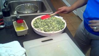 Final Touch For Zucchini-spinach Pie