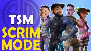 TSM SQUAD IN SCRIM MODE | PREPARING FOR ESPORTS TOURNAMENTS - (Fortnite Battle Royale)