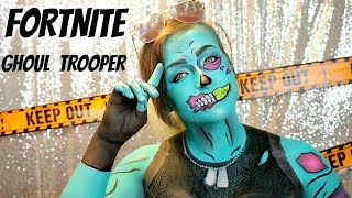 Fortnite Halloween Makeup Tutorial Ghoul Trooper Makeup | Fortnite Makeup | FORTNITE COSPLAY
