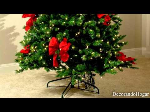 Download video decoraci n rbol de navidad rojo decorar - Decoracion para arboles navidenos ...
