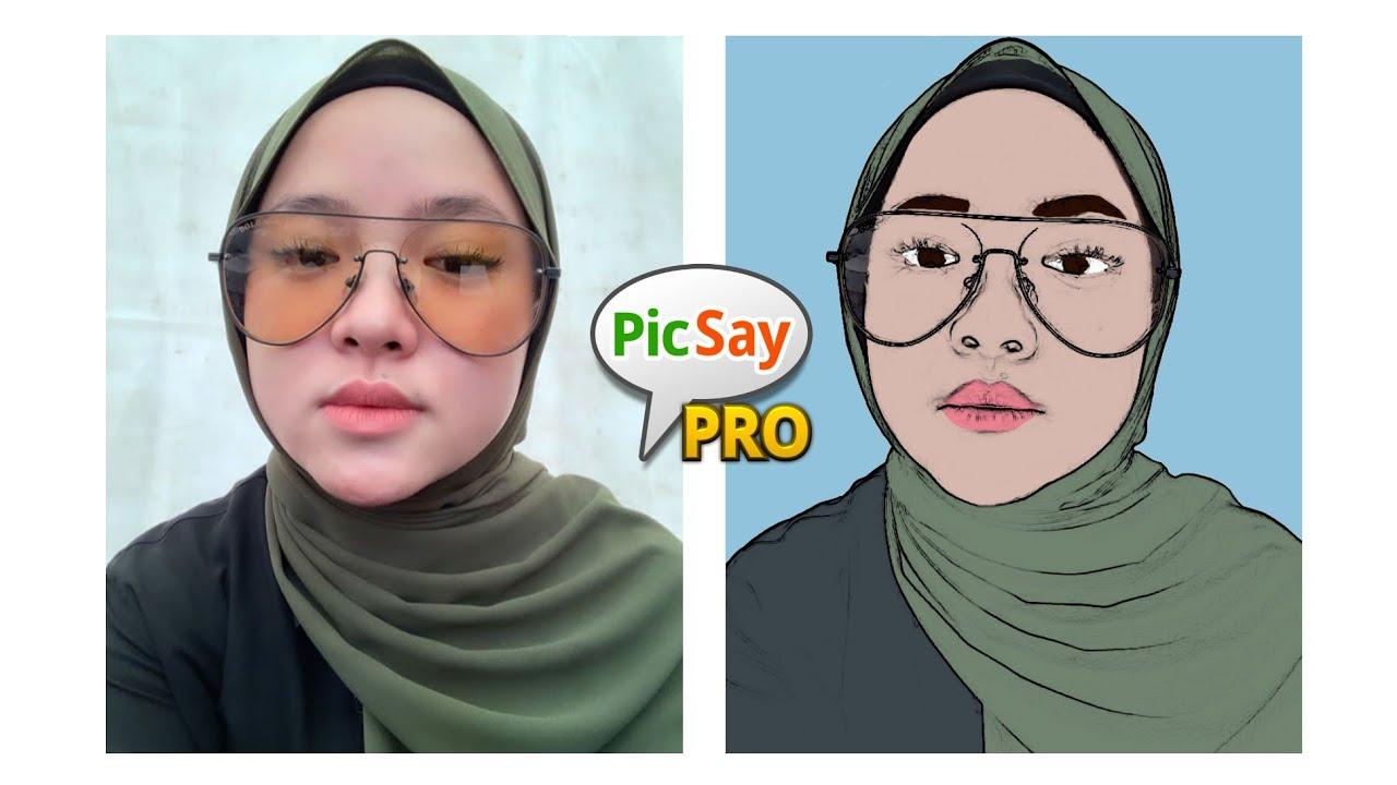 Cara Mudah Edit Foto Menjadi Kartun Tutorial Picsay Pro Youtube