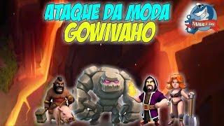 ATAQUE PERFEITO GOWIVAHO COM HERÓIS FRACOS - CLASH OF CLANS bug troll trollando