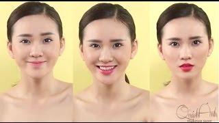 [QUÁCH ÁNH MAKEUP] 3 phong cách môi khác nhau chỉ với 1 tone màu son