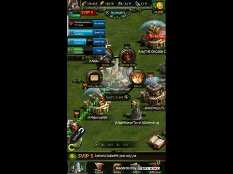 Clash Of Kings.Zero Castle Lvl 30 And One Rally To Castle 26 With 10m Power