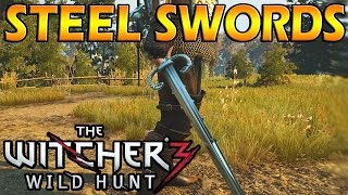 BEST WITCHER 3 STEEL SWORDS! (Relic & Crafted)