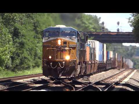 An Hour Of CSX Freight Trains In St Denis Station, MD