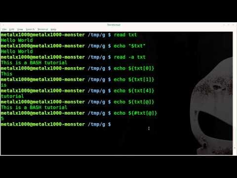 Splitting Strings Into Arrays - BASH - Linux