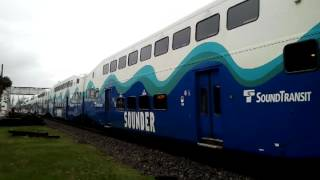 3-20-12 Sounder Commuter Train Departs Kent, WA