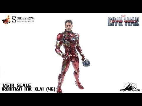 Optibotimus Reviews: Hot Toys Captain America Civil War IRONMAN MK XLVI (46)