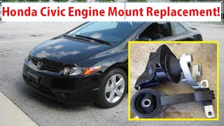 Honda Civic Engine Mount Replacement. Honda Civic 2006 - 2011 Right Side Passenger Side