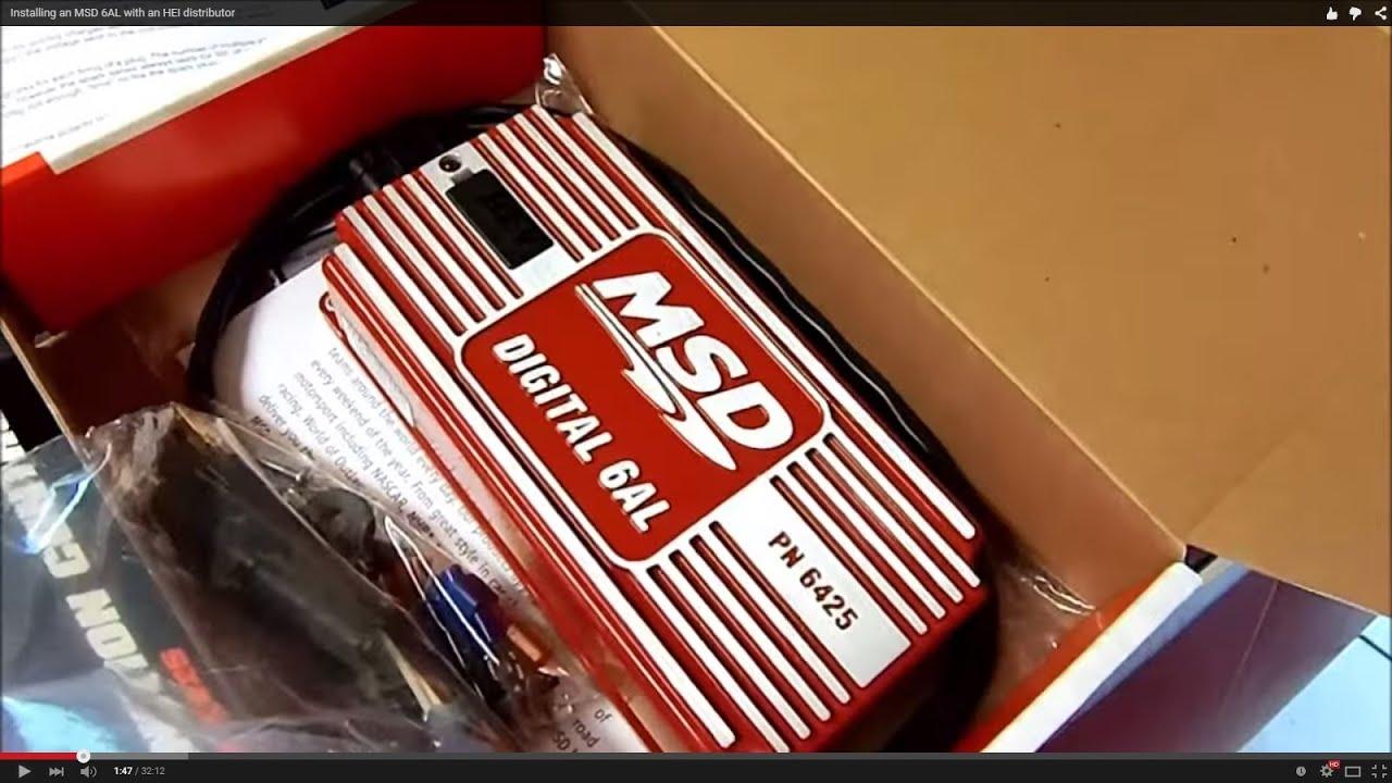 Msd 6a Wiring Diagram Ford Saab 9 3 Radio Installing An 6al With Hei Distributor Youtube