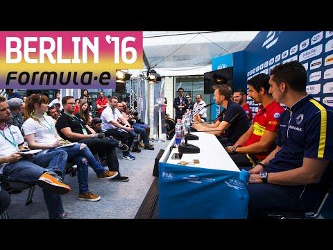 Pre-Race Driver Press Conference (BMW i Berlin 2016) - Formula E