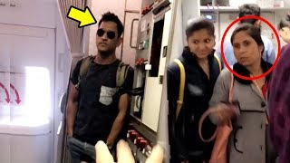 MS Dhoni Tries To HIDE In Airplane To AVOID Being Recognized By Public