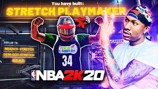 My *BRAND NEW* STRETCH BIG PLAYMAKER BUILD on NBA 2K20! BEST BUILD NBA 2K20! DEMIGOD BUILD 2K20!