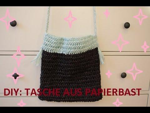 Diy Sommertasche Aus Papierbast Häkeln Youtube