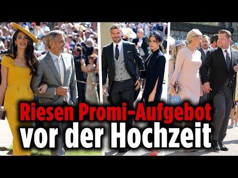 Die Traumhochzeit von Prinz Harry und Meghan Markle: Die VIP-Gäste kommen an