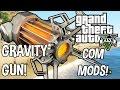 GTA 5 COM MODS! #2 Gravity Gun! Half Life Style :D