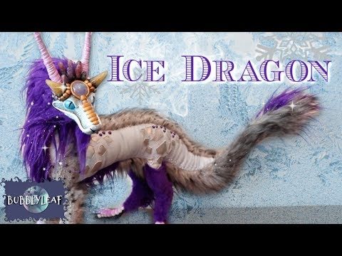 Glittery Ice Dragon || Posable Art Doll Tutorial