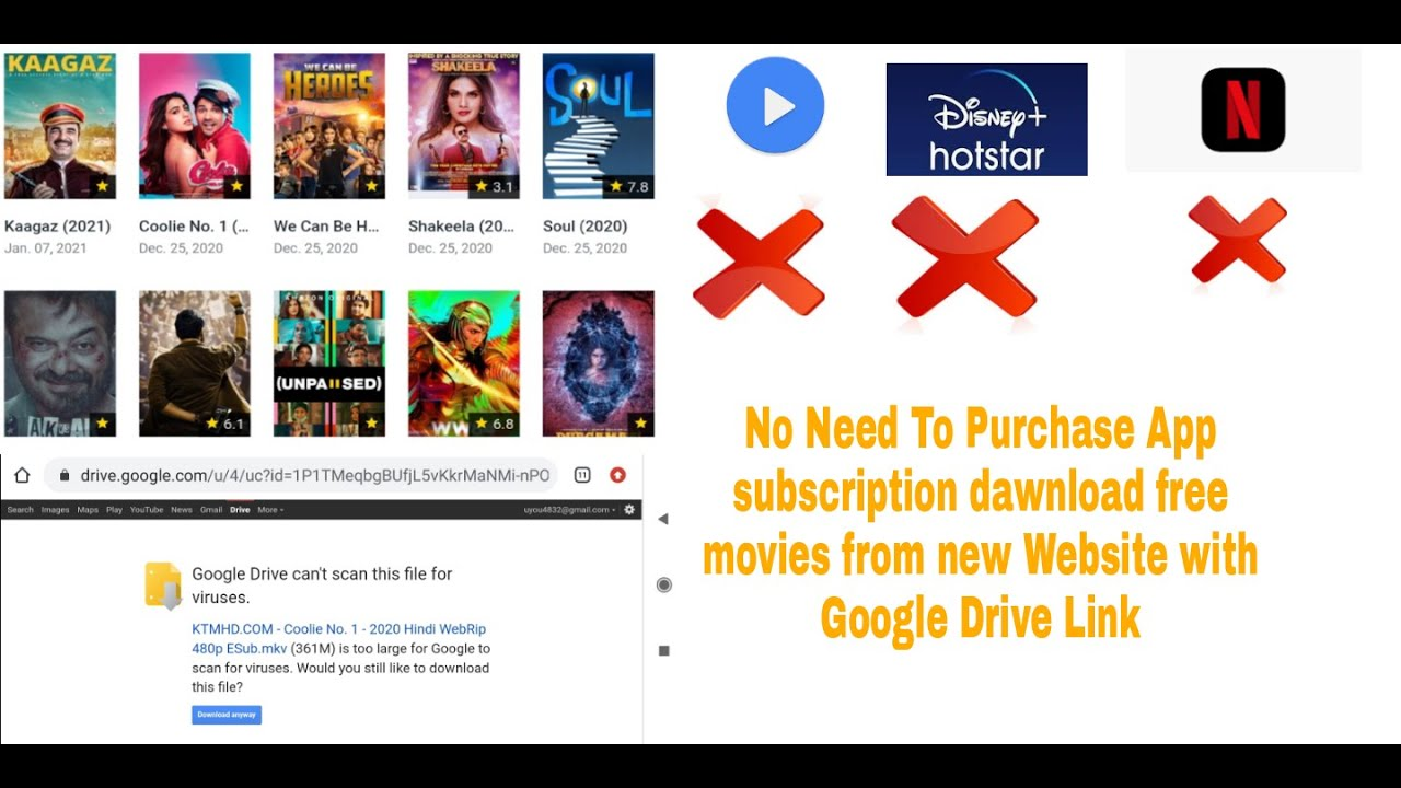 How To Dawnload Free Movies And Webseries from Google drive Link