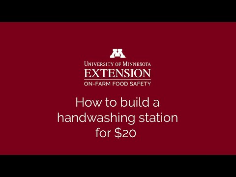 How to build portable hand washing station