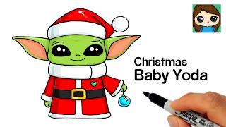 How to Draw Christmas Baby Yoda