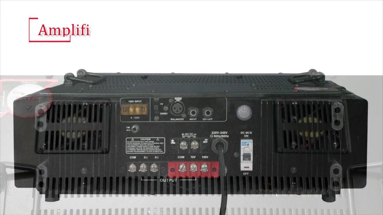 1000 watt amplifier with Bluetooth AMP 1000 W E BT