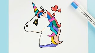 How to Draw a Unicorn Easy Step by Step - Cartoon Unicorn Drawing and Amazing Color Learning