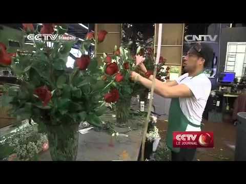 La Saint-Valentin, gros lot pour les fleuristes et commerçants américains