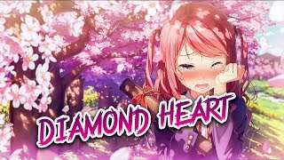 「Nightcore」→Alan Walker Diamond Heart✗[Lyrics]