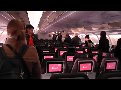 AIR BERLIN A330 INFLIGHT EXPERIENCE - to Abu Dhabi for one day!