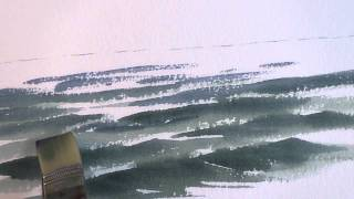 Painting Rough Water in Watercolor