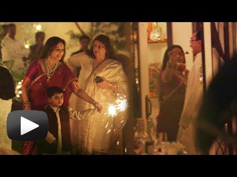 Leaked Images Of Rani Mukerji Celebrating Diwali With Aditya Chopra - Must Watch!