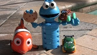 Cars 2 Hydro Wheels Mater Nigel Gearsley Racing Disney Nemo Cookie Monster Pool Party Underwater