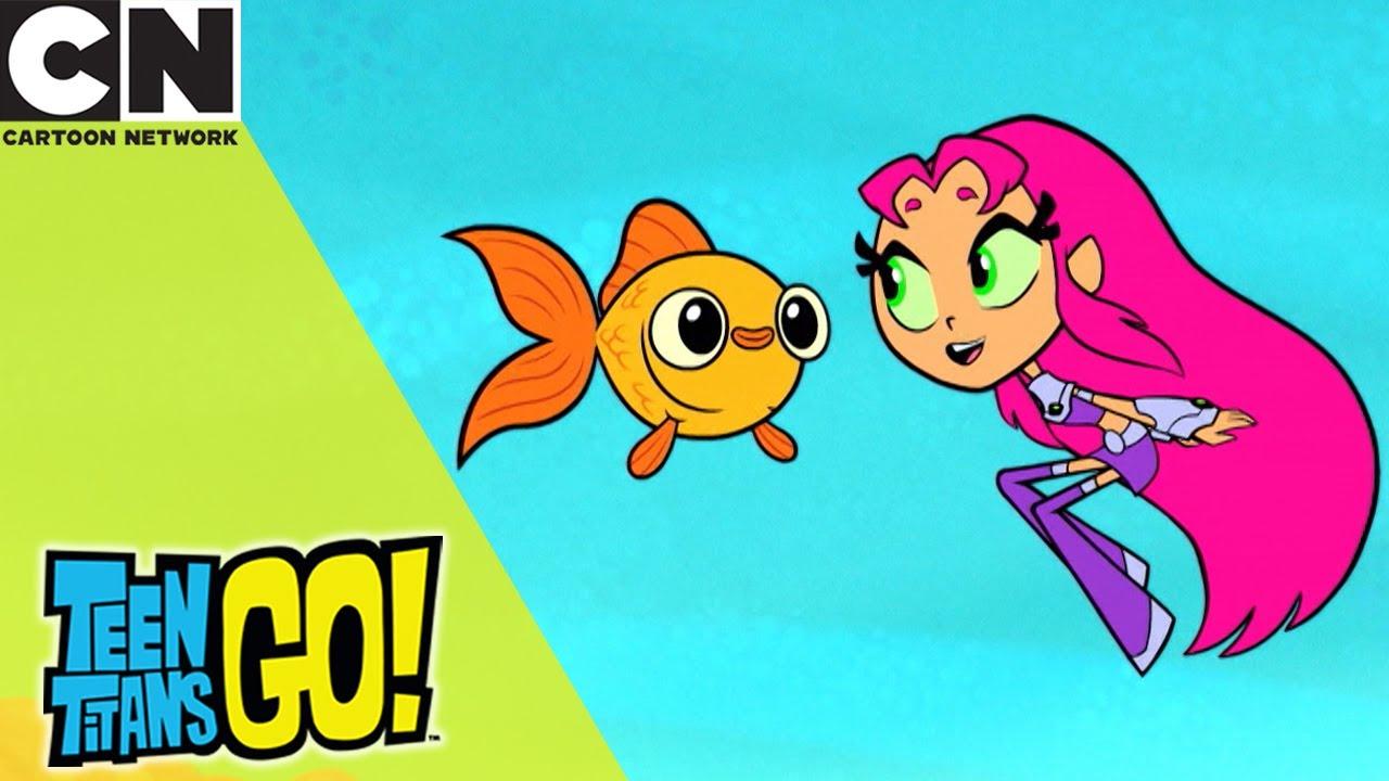 Teen Titans Go! | Starfire And The Fish | Cartoon Network UK 🇬🇧