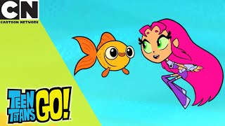 Teen Titans Go! | Starfire And The Fish | Cartoon Network UK 🇬🇧