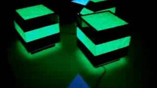 Lighted Illusion Bar Tables - Light Furniture